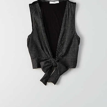 Don't Ask Why Front-Tied Tank, Black