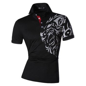 ONETOW New 2017 Mens Summer Fashion Casual Polo Shirt Designed Short  Sleeves Shirt Slim Fit Trend Solid color 4 Colors S M L XL U016