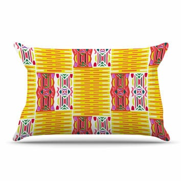 "Miranda Mol ""Cool Summer"" Gold Coral Pillow Sham"