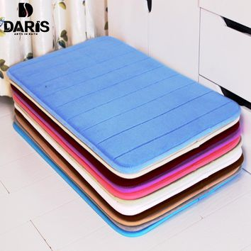 SDARISB Water Absorption Rug Bathroom Mat Shaggy Memory Foam Bath Mat Set kitchen Door Floor Mat Carpet For Toilet Non Slip