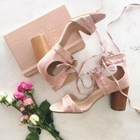 Make Me Blush Wrap Up Heels