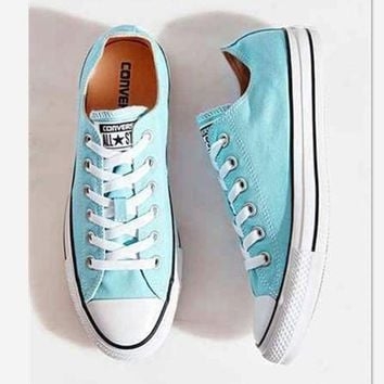 CREYUG7 Converse All Star Adult Sneakers Leisure Low-Top Leisure shoes Light blue