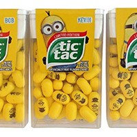 Limited Edition Minions Tic Tac Value Pack Stuart, Kevin & Bob