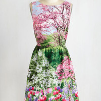 ModCloth Mid-length Sleeveless Fit & Flare The Realism Deal Dress