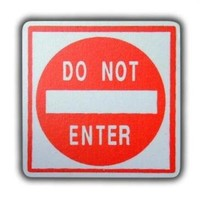 One World Road Sign Do Not Enter Wooden Drawer Pulls