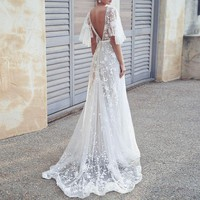 Magdalena White Detailed Gown