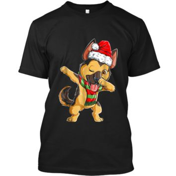 Dabbing German Shepherd Santa Christmas Kids Gifts Custom Ultra Cotton
