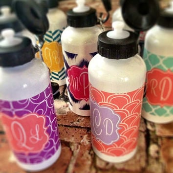Personalized Aluminum Water Bottles Great Bridesmaids by rrpage