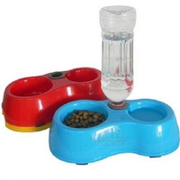 Pet Dog Puppy Cat Automatic Water Dispenser Food Dish Bowl Feeder Bottle = 1930104388