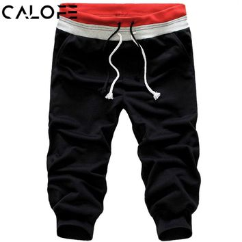 CALOFE Men Sports Shorts Running Outdoor Fitness Exercise Gym Soccer Basketball Jogging Jogger Low Waist Boxer Shorts Plus Size