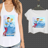 disney cinderella2 For Woman Tank Top , Man Tank Top / Crop Shirt, Sexy Shirt,Cropped Shirt,Crop Tshirt Women,Crop Shirt Women S, M, L, XL, 2XL**