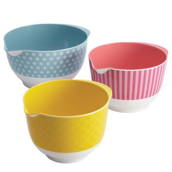 Cake Boss Countertop Accessories Melamine Mixing Bowl (Set of 3)