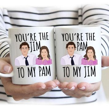 Jim To My Pam / Pam to My Jim - Office Mugs - VAL-109-110