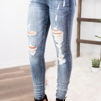Judy Blue Washed Out Distressed Skinnies