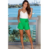 Ivory and Green Romper