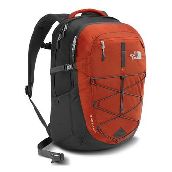 Borealis Backpack in Ketchup Red and Asphalt Grey by The North Face