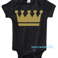 NEW* Baby Prince Gold Crown on Black