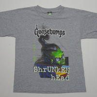 Goosebumps How I Got My Shrunken Head T-Shirt Vintage 1990s Youth M