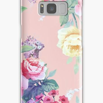 'Boho chic floral pattern II' Samsung Galaxy Case/Skin by printapix