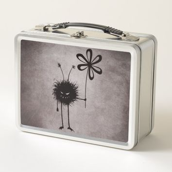 Evil Flower Bug Vintage Metal Lunch Box