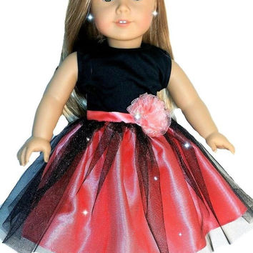 Doll Clothes Ballet for American Girl 18 Inch Dolls Includes Pink and Black B...
