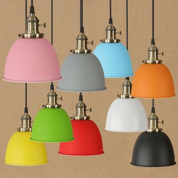 FGHGF Modern Colorful Pendant Ceiling Hanging Lamp Shade Chandelier Lightshades Kitchen Bar Light Fixture Home Nice Decor