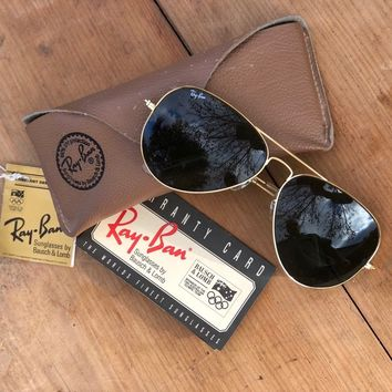 Genuine Vintage Rayban Aviator Glasses By Bausch & Lomb