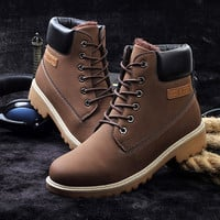Winter warm causal retro boots