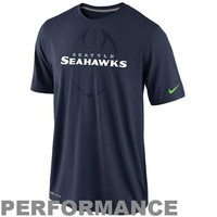 Nike Seattle Seahawks Legend Football Icon Performance T-Shirt - Navy Blue