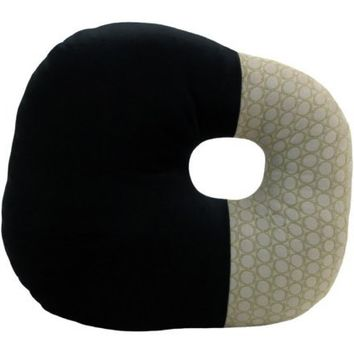 O-Block Modern Decorative Pillow Black and Grey 16 x 16 inches