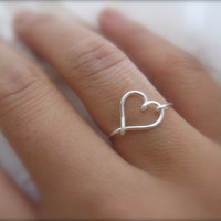 Dainty Silver Heart Ring