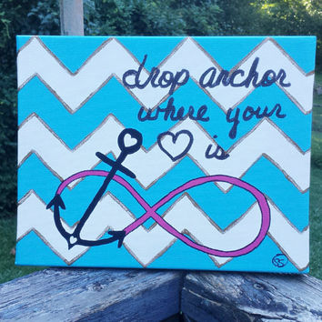 Infinity Anchor Canvas Painting