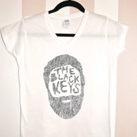 Black Keys V-Neck Shirt  Hipster  #117