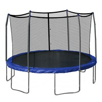 Skywalker 15-ft. Round Trampoline with Enclosure (Blue)