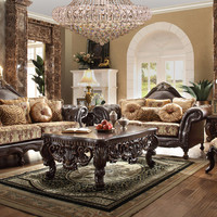 Homey Design HD-3280 Complete Living Room Sofa, Loveseat, Chair & Table Set