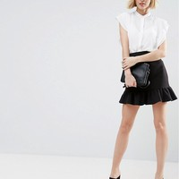 ASOS Blouse with Frill Shoulder at asos.com