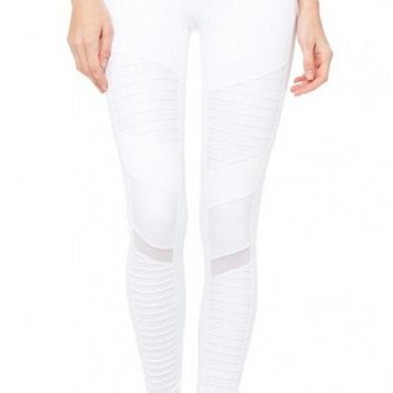 Moto Biker Yoga Leggings