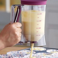 Cake Batter Dispenser With Measuring Label By Collections Etc