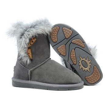 Ugg Boots Cyber Monday 2016 Fox Fur 5685 Grey For Women 94 09