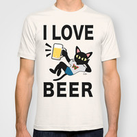 I love beer T-shirt by BATKEI | Society6