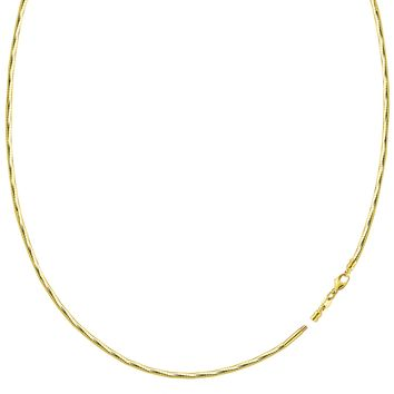 Diamond Cut Omega Chain Necklace With Screw Off Lock In 14k Yellow Gold, 1.5mm