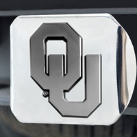 University of Oklahoma Hitch Cover - Chrome