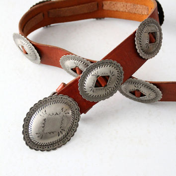 vintage 80s concho belt by Catherine Dial Easley