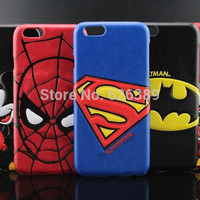 """For iPhone 6 Case Batman Superman Minnie Mickey Mouse Leather Hard Cases Cover Skin For iPhone 6 4.7"""""""