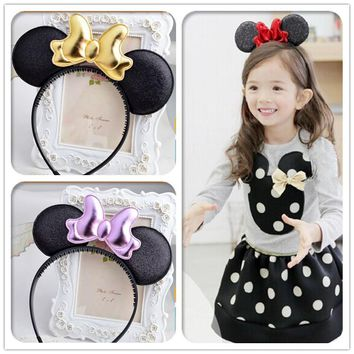 minnie mouse ears kids girls hair bands head hoop hairband accessories for children hair ornaments decorations tiara headdress