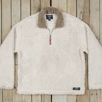 Southern Marsh Appalachian Pile Pullover- Oatmeal with Light Brown