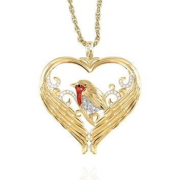 Exquisite Fashion 925 Silver and Gold 'Messenger of Love' Bird Necklace Love Necklace Fashion Accessories Lover Gift Anniversary Jewelry