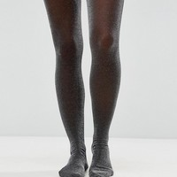 Monki Silver Glitter Tights at asos.com