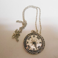 Once Upon A time Fairytale Peter Pan Captain Hook Compass Necklace