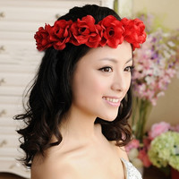 New Fashion Wedding Hair Garland Flower Hair Hoop Headband Flower Hair Accessories